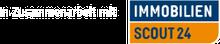 Logo ImmobilienScout24 mit Link auf ImmobilienScout24 Website