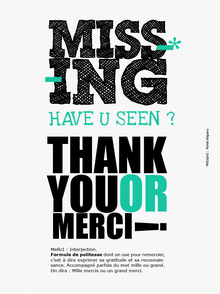 tableau graphique thank you merci