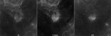 NGC 3324 Einzelkanäle der Hubble-Palette