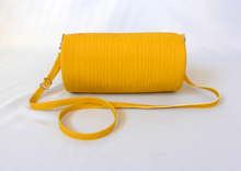 Duffle Bag yellow Plissee / Zebra