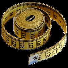 Mètre de couturière jaune