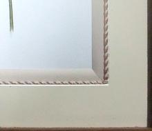 マットの斜面(ベベル面)にデザインコードを装飾
