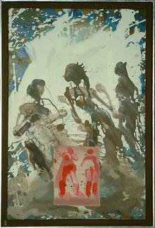 Erdtanz - Acryl auf Leinwand, 2002 (65x45)