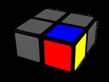 cubo de 2x2x1, pieza de referencia