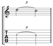 譜面Ex.1 プリングの基本