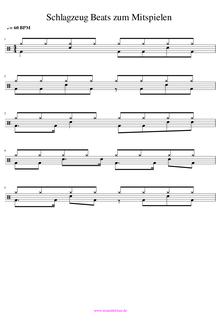 Schlagzeug Beats zum Mitspielen Schlagzeugnoten