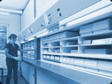 Bereitstellung einer umfangreichen eigenen Lagerhaltung von Bauteilen bei Andreas Müller Electronic GmbH