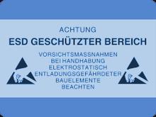 Qualitätssicherung durch Schutz ESD-gefährdeter elektronischer Bauteile (ESDS) und Baugruppen,  die gesamte Elektronikfertigung der AME GmbH ESD-sicher mit EGB-Schutzmaßnahmen ausgerüstet