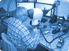 Qualitätssicherung durch Optische Inspektion durch moderne Mikroskop-Arbeitsplätze