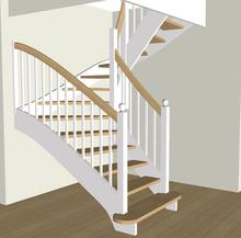 Treppe in 3D Ansicht