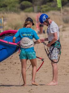 Wasser Erfahrung im Kitesurfen