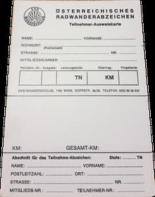 Radwander-Folgeausweiskarte