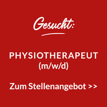 Stellenangebot Physiotherapeut (m/w/d)