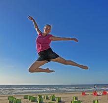 Annelie in Noordwijk, Holland.