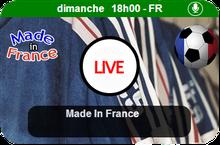 On se retrouve dès 18h00 pour la quinzième émission de Made in France. (30 novembre 2014)