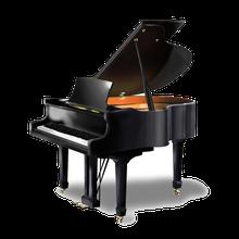 Pianoforte a coda nero