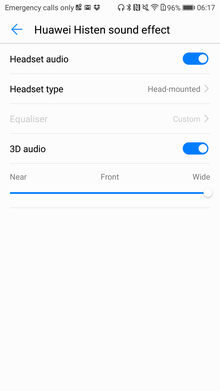 Sound settings in Honor 9: what is given and what is affected - Free