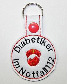 Diabetiker Schlüsselanhänger Notfallset Dänisch Diabetisk