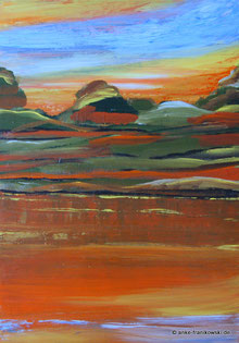 Abstrakte Malerei in Acryl Herbst