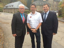 Präsident Horst W. Bichl, M. Glock, Direktor René Kauffmann