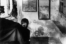 Ulrich Wüst, Flachland, 2013, leporello of 179 black-and-white photographs, mounted on cardboard, installation view, Athens Conservatoire (Odeion), Athens, documenta 14, photo: Mathias Völzke
