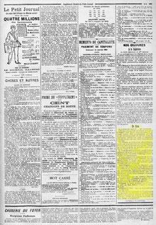 Le Petit Journal - Dimanche 16 janvier 1898.