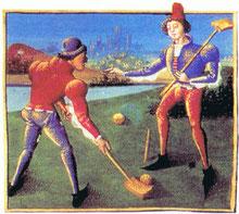 Le croquet, ancêtre du billard