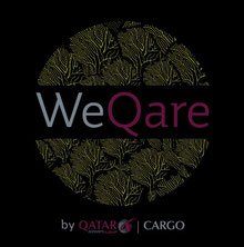 "Qatar's new ""WeQare"" logo: Image: Qatar Airways Cargo"