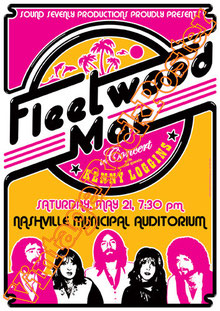 fleetwood mac,fleetwood mac poster,Mick Fleetwood, John McVie, Stevie Nicks,dreams,landslide,little lies,nashville,american music,radio rock,1977,kenny loggins