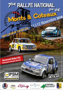 affiche rallye monts et coteaux 2016