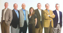 Das Executive Team: David Sterling, Gregory Cook, Robert Young, Emily Wright, Dr. David Hill, Mark Wolfert, Corey Lindley