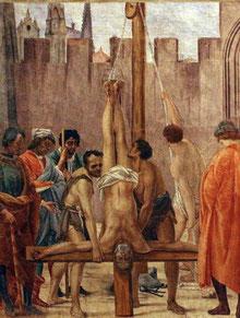 Le Martyre de Saint Pierre - Fresque de la chapelle Brancacci à Florence