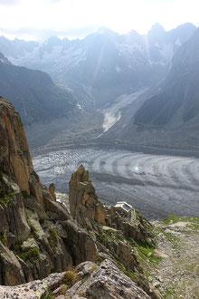 Envers des Aiguilles, Refuge Envers des Aiguilles, Klettern Chamonix, Climbing