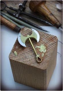 Urmodell  vom Axt Amulett der Minoischen Doppelaxt mit Kultknoten
