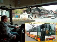 Immer freundlich: Busfahrer der Fa. Hahne aus Hohegeiß
