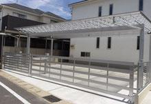 トラス構造が印象的なカーポート  愛知県春日井郡 A様邸 造園工事・外構工事・インテリア