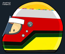 Helmet of Max Papis by Muneta & Cerracín