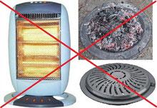 Sistemas de calefacción desaconsejados