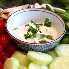 Southwestern Greek Yogurt Dip with Crudités