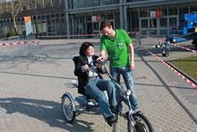 Fahrtraining mit einem Dreirad