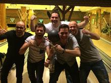 """Das Bild zeigt das """"Siegerhaus"""" mit den Bewohnern Fabio Caracciolo, Manuel Schanz, Luigi Marco Manetti, Mathias Scheller und Sebastian Röder"""