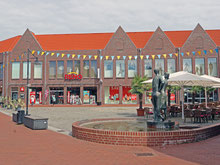 Blick auf die Einkaufsmeile in der Innenstadt von Soltau