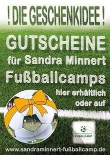 Fußballschule Sandra Minnert Fussballcamps Geschenkgutschein Kindergeburtstag Frankfurt
