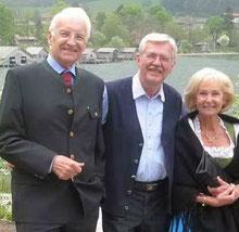 Nicht nur der gleiche Jahrgang verbindet:  Die Stoibers bei ihren Besuch 2011 in Schliersee-Fischhausen