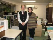 上京して新事務所での写真(司法書士さん)