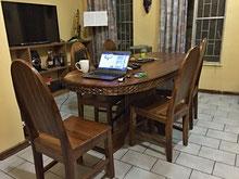 Heute morgen früh beim Blog Schreiben bei mir zu Hause.