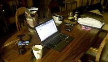 Heute morgen beim Blog schreiben ist noch nicht alles aufgeräumt