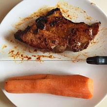 Karrotte mit Fleisch oder umgekehrt, Hauptsache Trenn-Kost