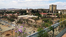 Windhoek von der Hotel Hilton Dachterrasse