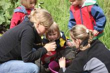 Viel Arbeit und Liebe investieren wir in die Umweltbildung der Kinder